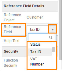 Reference App Field Values