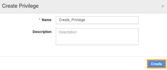 Create privilege