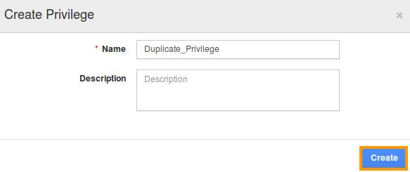 Duplicate Privilege