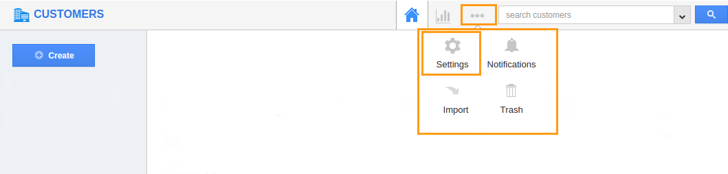 customer settings
