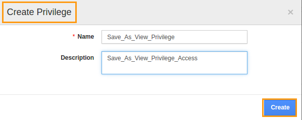Save As View Privilege