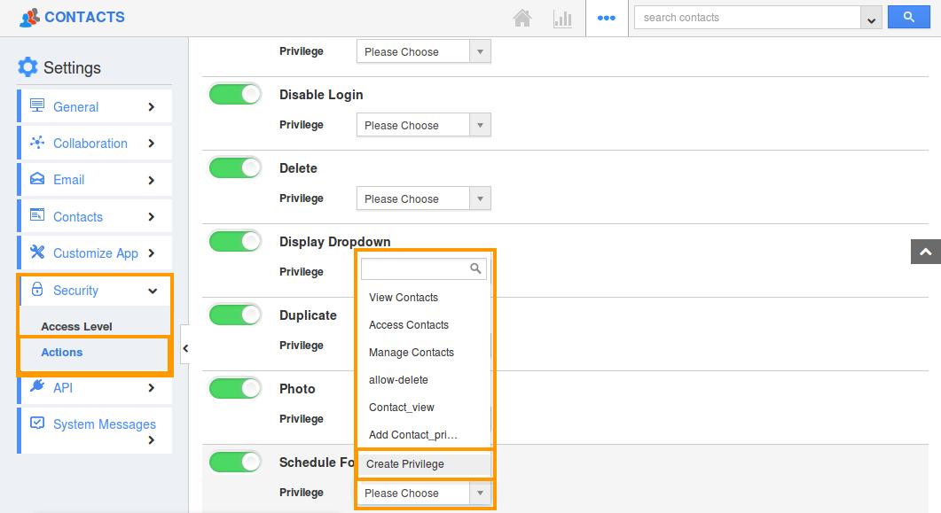 Create schedule followup privilege