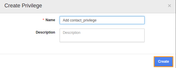 add contact privilege