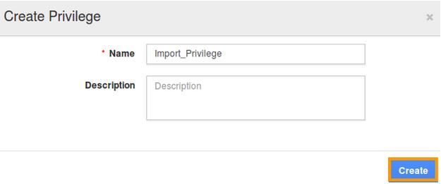 Import privilege