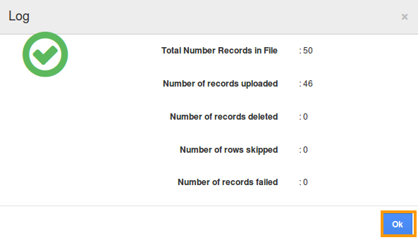 Records uploaded