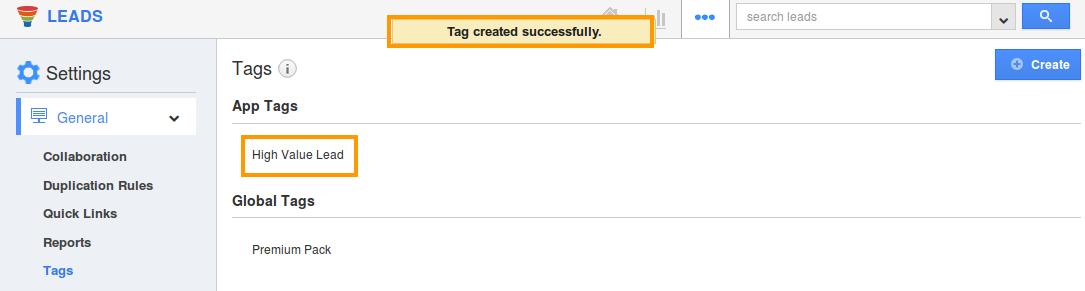 tag created