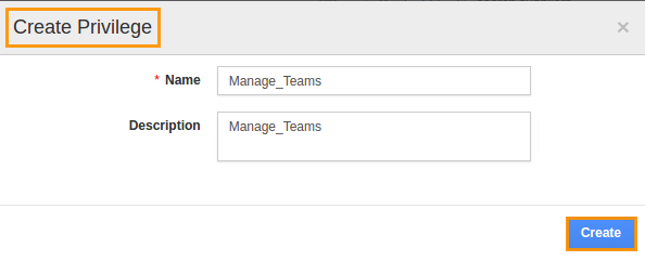 manage team privilege
