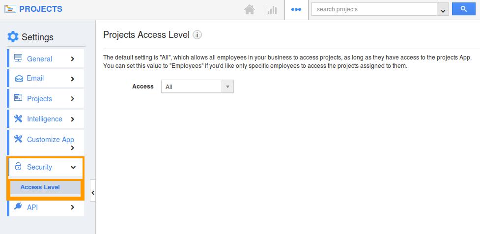 access level