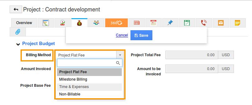 billing method changed