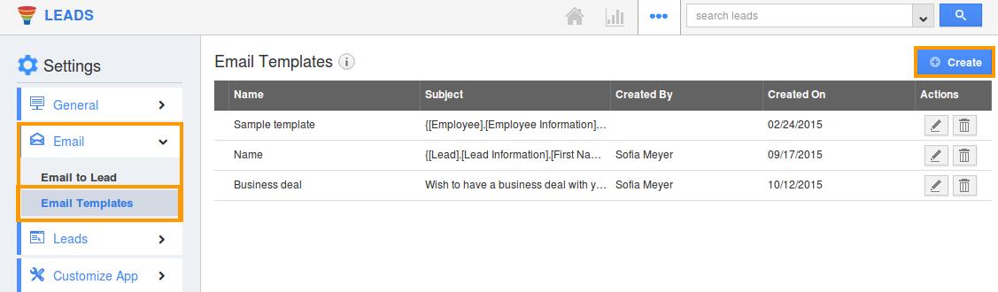 create custom email templates in crm apps apptivo faq. Black Bedroom Furniture Sets. Home Design Ideas
