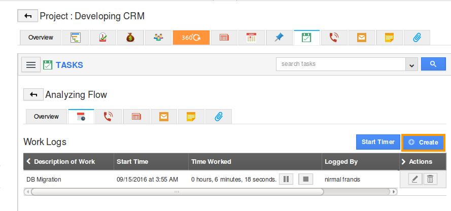 create worklog