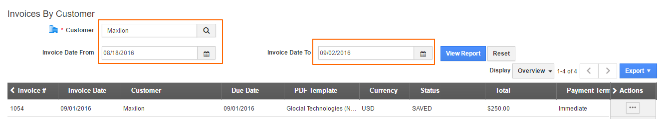 invoice-customer-report
