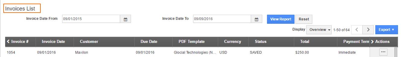 invoices-list-report