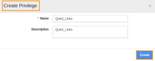 quick link privilege