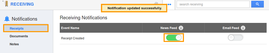 enable newsfeed