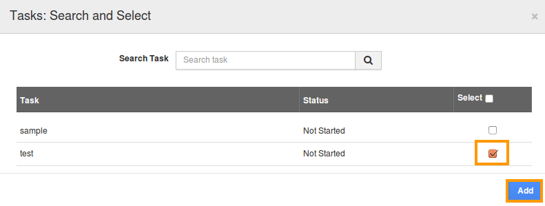 select existing task