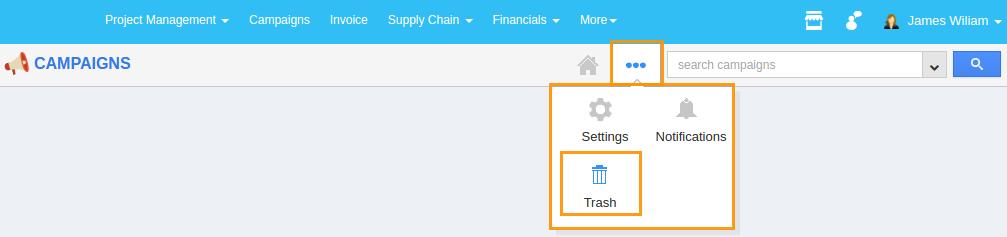 trash option enabled