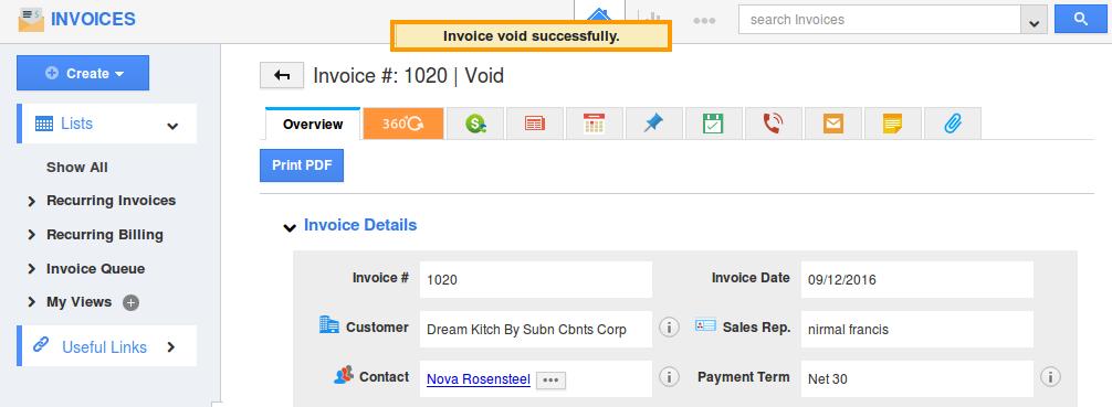 void success
