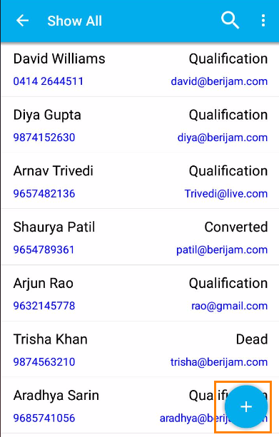 image result for contacts app