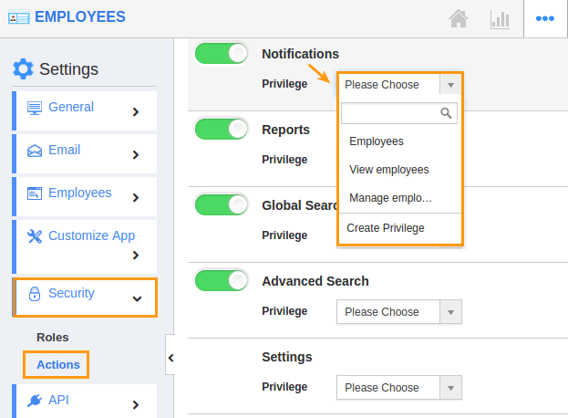 image result for give permission to access notification in employees app