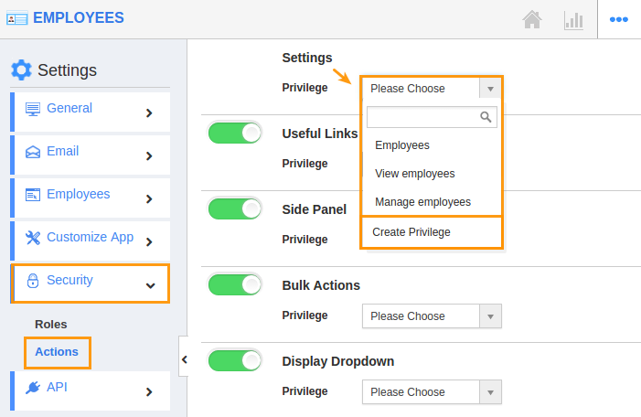 image result for give permission to access settings in employees