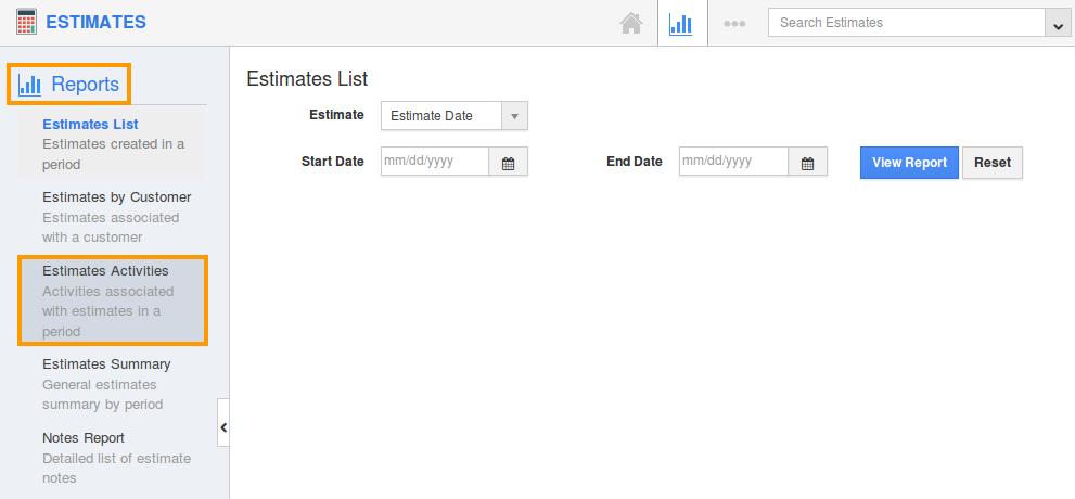 click estimates activities
