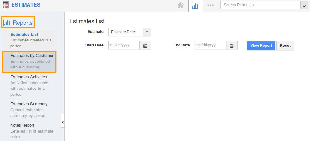 click estimates by customer