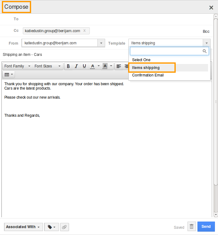 select-email-template
