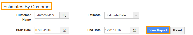 view estimates by customer