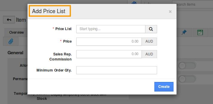 add-price-list