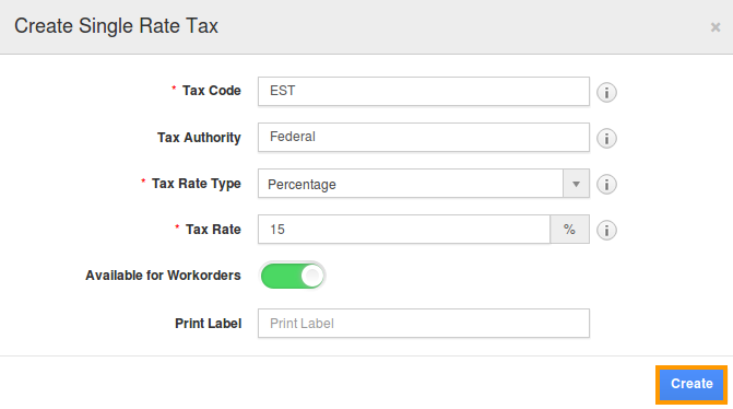 create tax