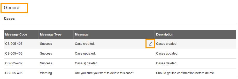 edit under message column