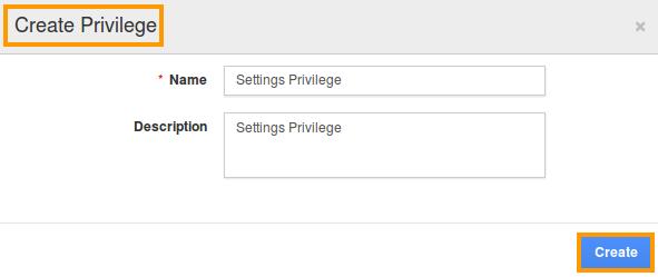 create privilege popup