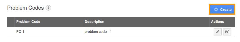 create problem codes