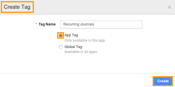 click on create button