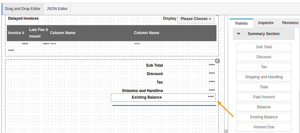Existing Balance  Invoice Pdf Template