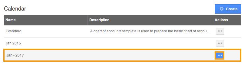 select calendar to customize