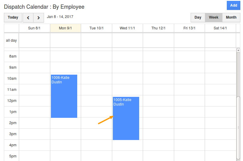 view work order in calendar