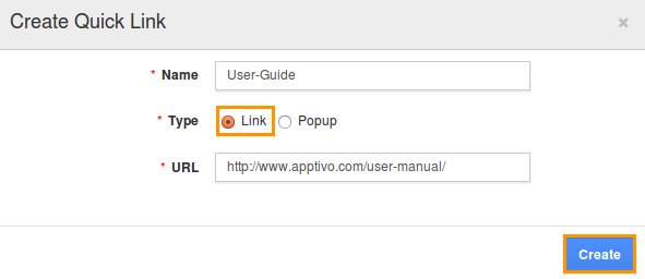 create-quick-links