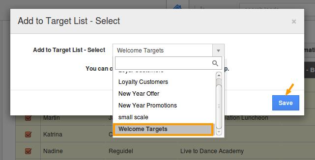 select target list