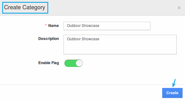 create category popup