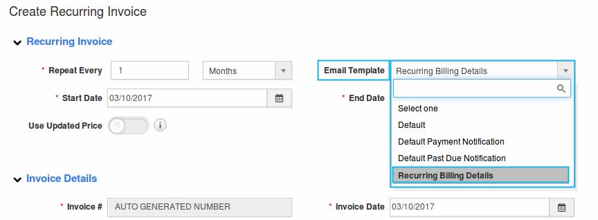 how do i setup custom email templates for my invoices | apptivo faq, Invoice templates