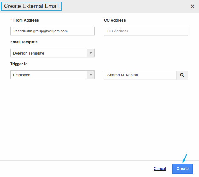 create external email popup