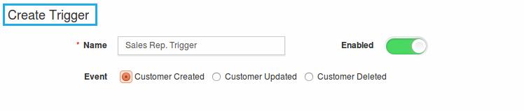 customer created trigger