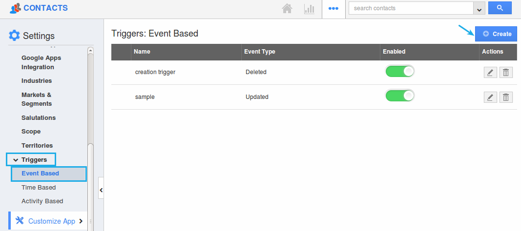 event based trigger