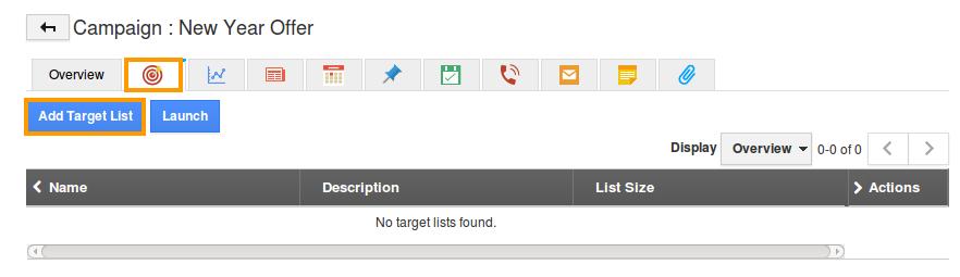 add target list