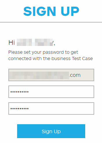 customer contact signup