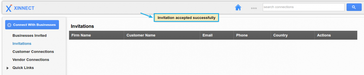 How do i allow customer contact view a project apptivo faq the invitation will be successfully added invitation accepted stopboris Image collections