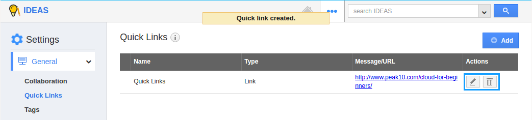 edit links