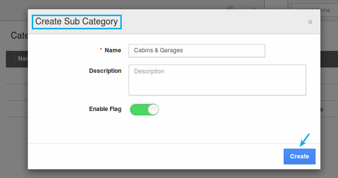 create sub categories